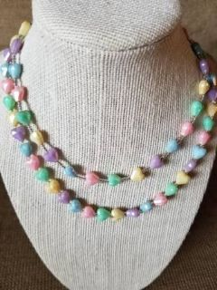 Two heart strand necklace