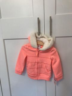 2T hoodie with lined hood- NWT