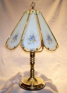 TIFFANY STYLE 8 PANEL TOUCH LAMP