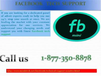 Facebook Tech Support 1-877-350-8878: mystifying out all problems for you