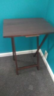 Foldable wooden side table. Like new.