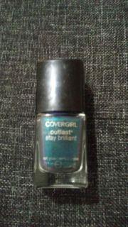 Covergirl, teal on fire.