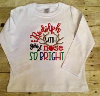 New custom appliqu Christmas shirt sz 2t $15- normally sell for $24 customer didn t pick up