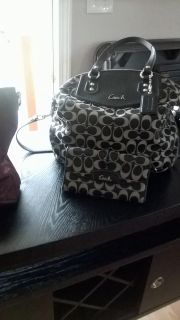 2 coach purses, 1 wallet, 1 pair boots, Ashro purse and Shoes Size 11