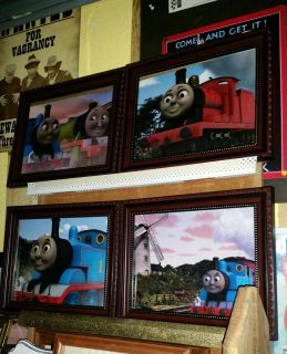 Thomas Train pictures, great matching frames. 11 by 8.5. All like new. $3 each or all for $10.