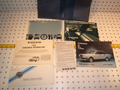 Buy Volvo 1984 GL/ Turbo Owners's 1 set of 6 Manuals/ Papers Volvo Blue OEM 1 Pouch motorcycle in Roseville, California, United States, for US $109.00
