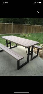 EUC Lifetime picnic table- folds flat for moving and storage! Price firm, will not drop. pick up only. These run $150-$200 online