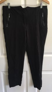 EXPOSITE BY MAGASCHONI Black Stretch Pants Size 6