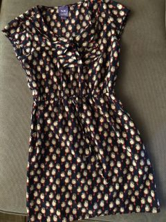 BeBop girls size 10/12 dress with pockets! Navy background. Bird pattern.