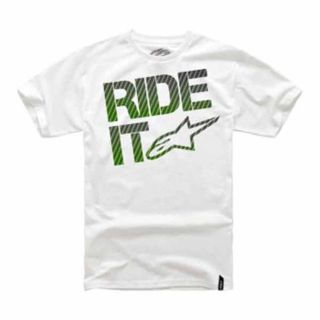 Sell ALPINESTARS RIDE IT CARBON FIBER CLASSIC ADULT COTTON TEE/T-SHIRT,WHITE,LARGE/LG motorcycle in Holland, Michigan, US, for US $18.97