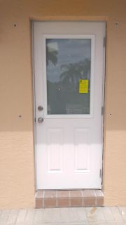 549.00 Frosted 1/2 Glass Impact Door