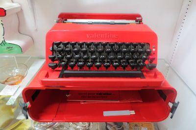 Vintage MCM Olivetti Valentine red typewriter