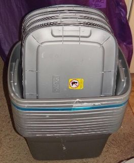 13 - 18 gal. Used Totes with Lids all 13 for $30