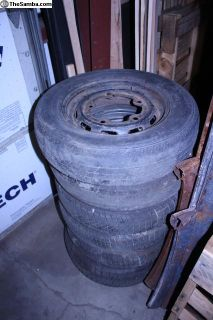 65-67 Bug Ghia Rims With Roller Tires