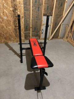 Bench only, no weights, no bar