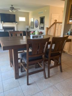 Farmhouse Counter-Height Dining Room Table & 8 Chairs