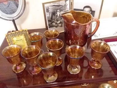 Antique carnival glass