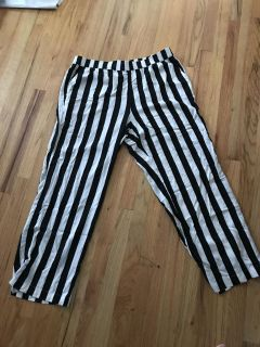 Black and White Striped Pants-NEVER WORN