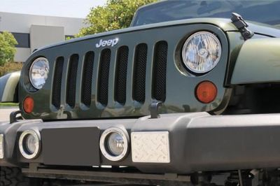 Purchase T-Rex 07-13 Jeep Wrangler Billet Grille Sport Series Chrome Mesh Grill 46481 motorcycle in Corona, California, US, for US $254.50