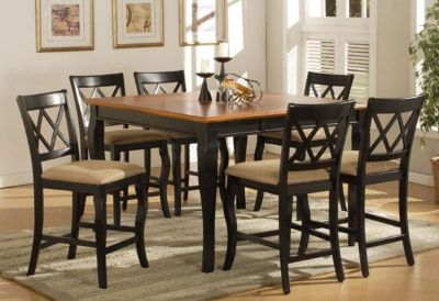 $349, 54 x 54 counterheight dining table w 6 chairs deal no tax