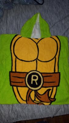 Toddler towel cover with hood