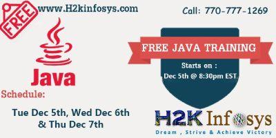 JAVA/J2EE Free training by Mr. Jayram on Tue 5th / Wed 6th / Thur 7th Dec @ 8:30 pm EST.