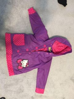 Hello kitty raincoat by western chief 4t-5t