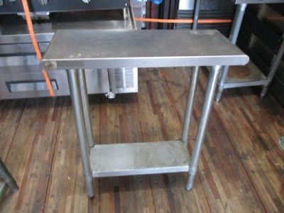 "(2) S/S Work Tables 12"" x 31"" x 33"" RTR# 7121852-20"