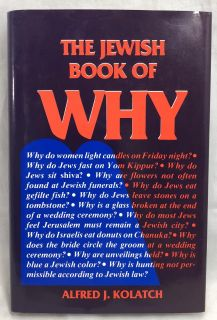 The Jewish Book of Why by Alfred J. Kolatch (1983, Hardcover) OBO