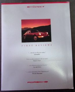 Purchase 1989 Porsche Press Kit Media Release Original 911 Carrera 4 Rare motorcycle in Holts Summit, Missouri, United States, for US $59.89