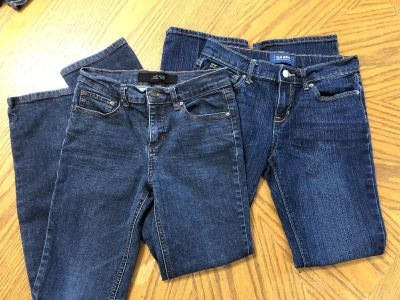 Girl Size 12 old Navy and Joes Stretch Jeans-(c2)