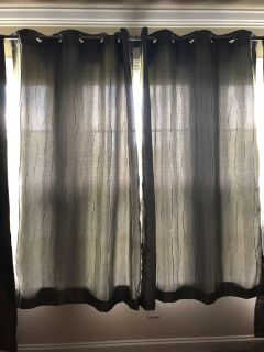 Two curtain panels 71 x51