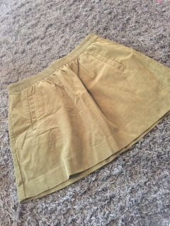 J. Crew size 8 army green cord skirt with pockets.