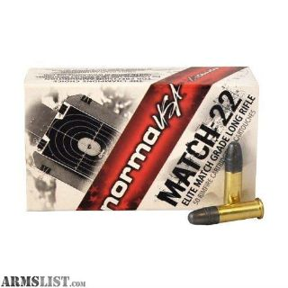 For Sale: .22 Norma Match Ammo 1/2 Price