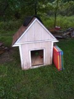 dog house with inside light