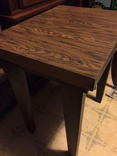 Table solid wood 27 tall 25 wide 18 deep
