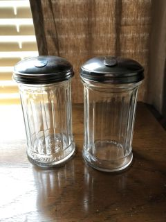 2 sugar glass containers. Both for $1