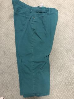 Turquoise colored denim in perfect condition cape size 16