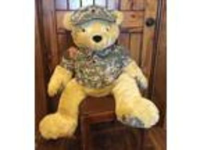 "JUMBO 36"" BEAR FORCE OF AMERICA PLUSH Army Camouflage"