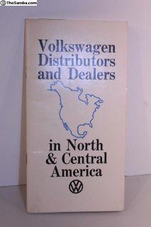 1971 North America Distributors/Dealer Guide Book
