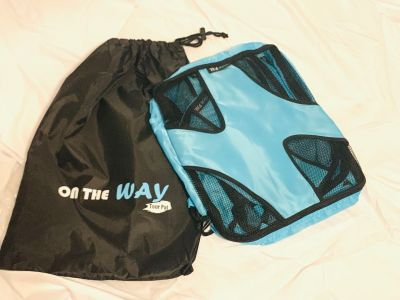 Tour Pal Packing Cubes Travel Luggage Organizer Laundry Bag Set of 4 Teal blue $14
