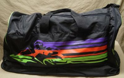 Purchase Vintage Large Arctic Cat Snowmobile Gear Duffle Bag Black Green Orange Purple motorcycle in West Chicago, Illinois, United States, for US $150.00