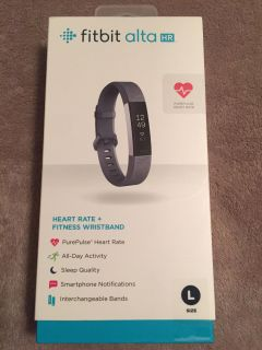 Fitbit Alta HR-BRAND NEW SEALED IN PACKAGE. Size Large. Paid $150. Perfect for Christmas!!