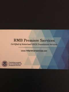 RUSH USCIS CERTIFIED TRANSLATION SERVICES (7 Days A Week)