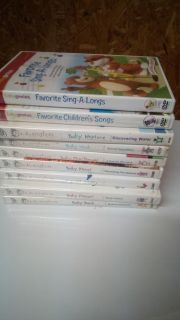 Baby Einstein dvds lot of 7 plus 2 baby genius dvds. All for $10. Target to Thursday only