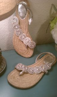 Naughty Monkey Jeweled Sandals Sz 8.5 women's shoes