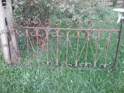 Early antique garden fence panel