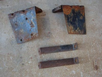 Sell 1942 46 47 FORD big truck front fender brackets upper & lower = 4 motorcycle in Strawberry Plains, Tennessee, United States, for US $55.00