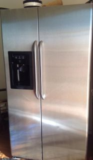 Stainless GE side by side