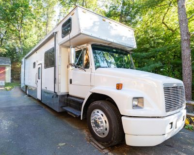 1999 Freightliner FL80 Fun Mover/Toy hauler (12' garage)
